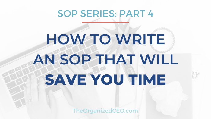 How to Write an SOP That Will Save You Time