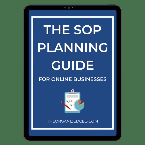 SOP Planning Guide - Tablet Mockup