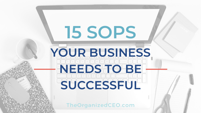 15 SOPs Your Business Needs to Be Successful