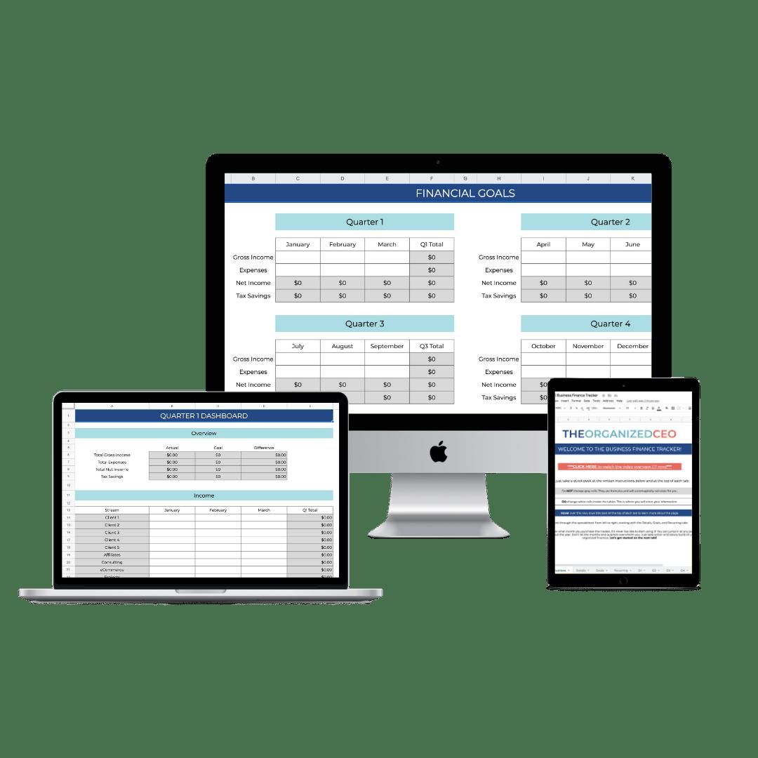 Business Finance Tracker Mockup