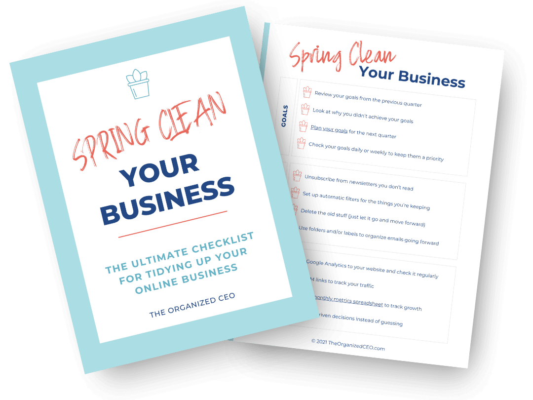 Spring Clean Your Business Checklist Mockup