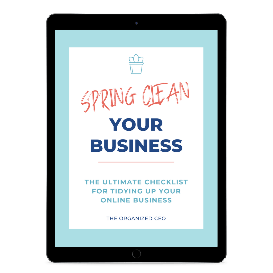 Spring Clean Your Business Checklist Tablet Mockup